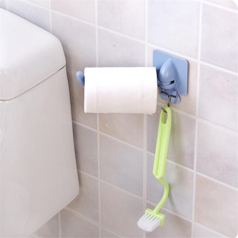 1pc Multifuction Hand Towel Hook Storage Holder Bathroom Kitchen Rotary Organizer Wall-Mounted Hanging Shower Cloth Rack Shelf
