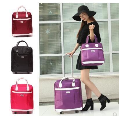 Sacs de voyage pour femmes roues sacs de voyage Trolley ensembles sac à main de voyage en Nylon grande capacité voyage valises à bagages roulantes sacs