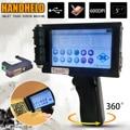 5 pulgadas inteligente de mano impresora de inyección de tinta pantalla táctil 360 t tinta fecha Coder Codificación de la máquina de secado rápido cartucho