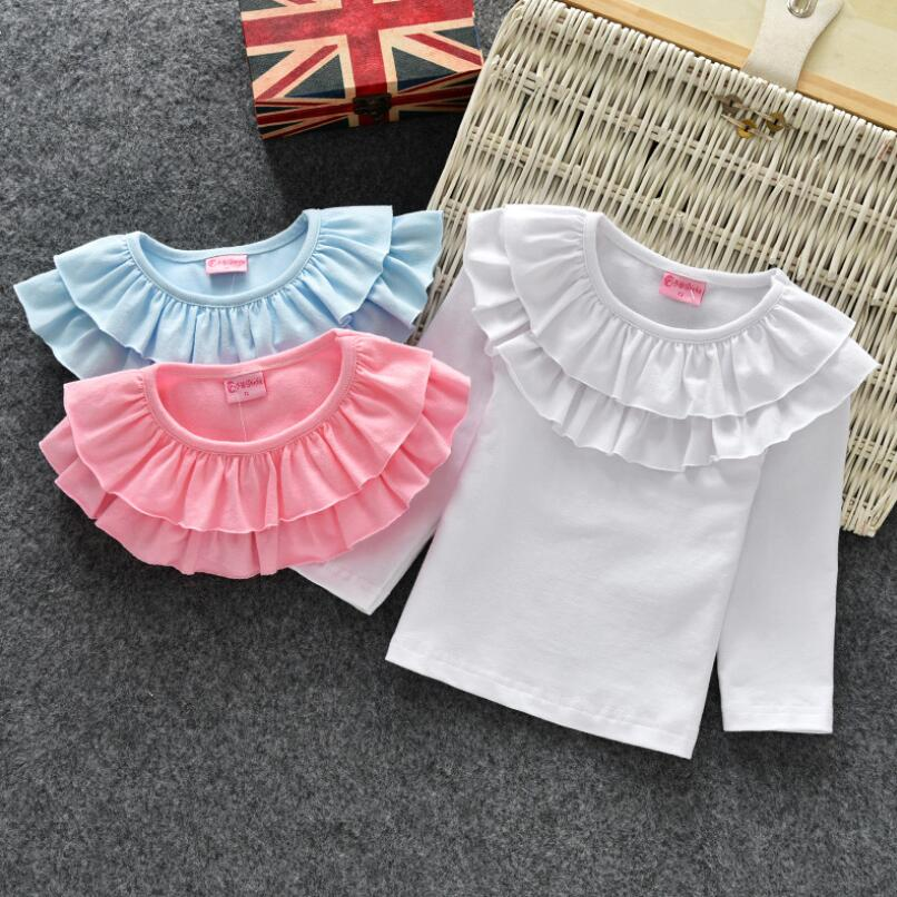 3c931130af554 2019 Autumn girls bottoming shirt cotton female baby long sleeved T ...