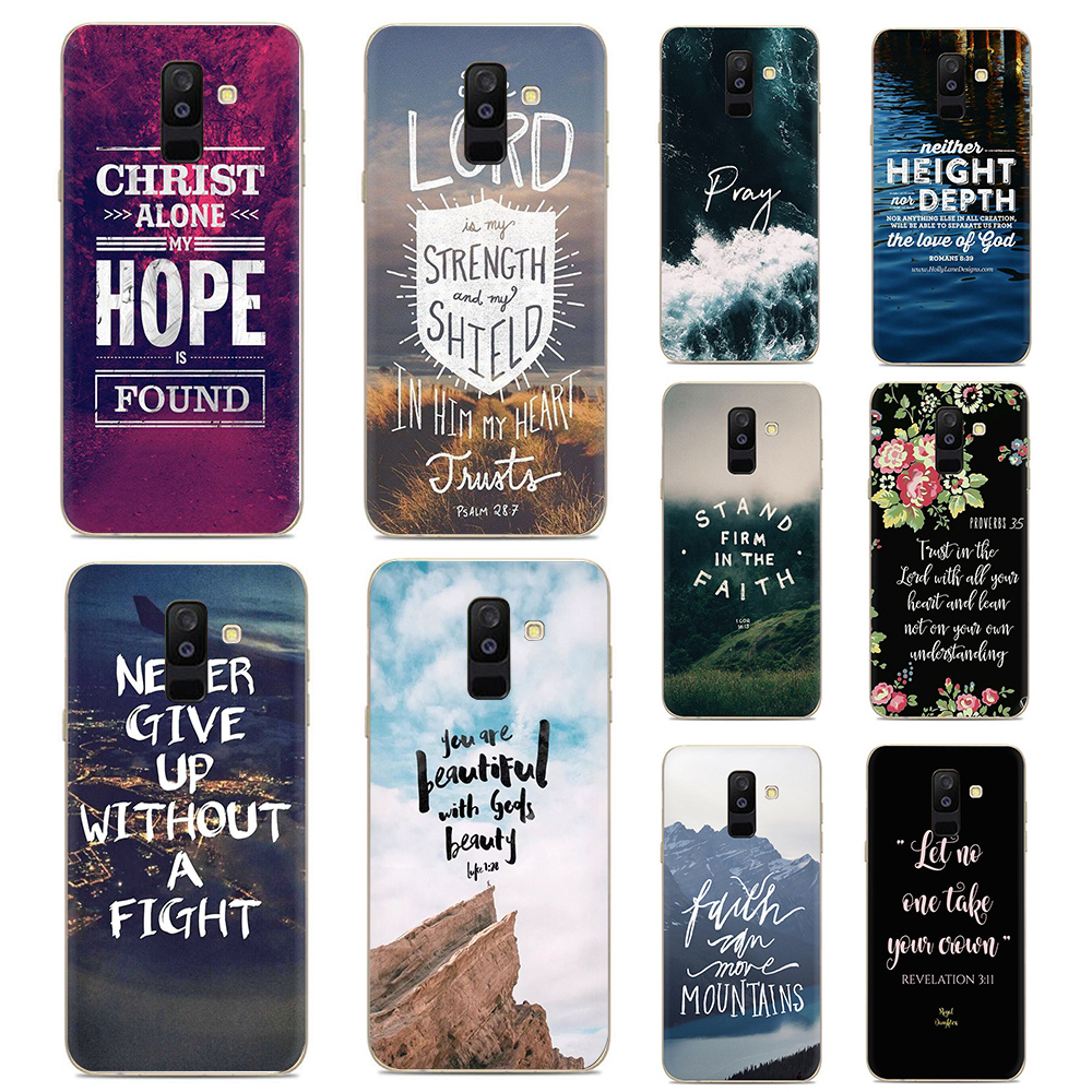 Bible Verse Jesus Christ Christian Soft Silicone <font><b>phone</b></font> <font><b>case</b></font> for <font><b>Samsung</b></font> <font><b>A5</b></font> <font><b>2016</b></font> 2017 A6plus 2018 S6 S7 Edge S8 S9 plus Note 8 9 image