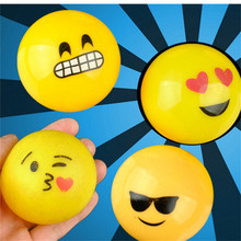 HEY FUNNY 1piece Creative emoji Toys vent water polo QQ expression Tricky wrestling is not a bad toy ball expression