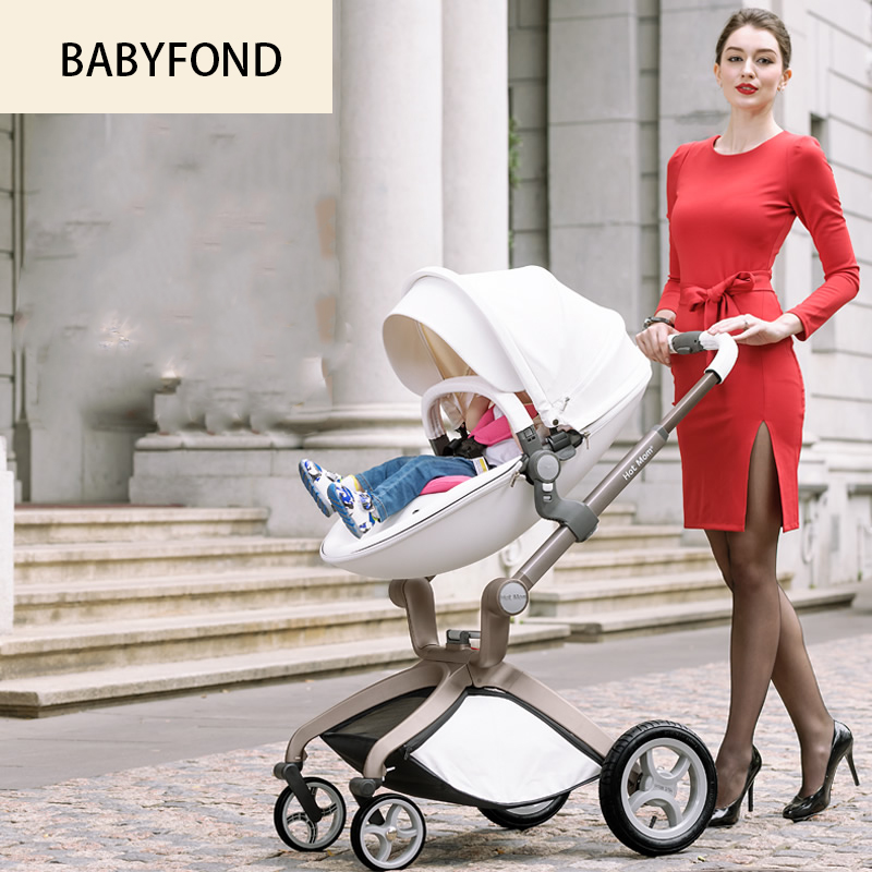 Express delivery! Single  Hot mum Baby Stroller Light Folding Trolley Buggiest Shock Four Wheel Basket 6-3 years baby