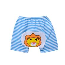 Pro Baby Pants Cartoon Print Knitted Busha PP Pants Elastic Waist Toddler Leggings Kids Clothes 1-4 Years LM75