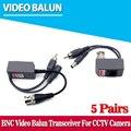 Hot rj45 balun pasivo utp cctv video balun bnc power, poe potencia video audio 3 en 1 transceptores cctv repuestos envío gratis