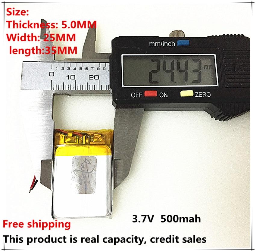 2pcs [L051] 3,7 V, 500mAH, [502535]; polimerna litij-ionska baterija - Dodatki za tablične računalnike - Fotografija 1