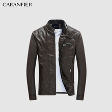 CARANFIER Men s PU Jackets Coats Motorcycle Leather Jackets Men Autumn Spring Leather Clothing Male Casual
