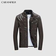 Caranfier mens pu jackets coats 오토바이 타는 사람 가짜 가죽 자켓 남자 가을 겨울 옷 남성 클래식 두꺼운 벨벳 코트