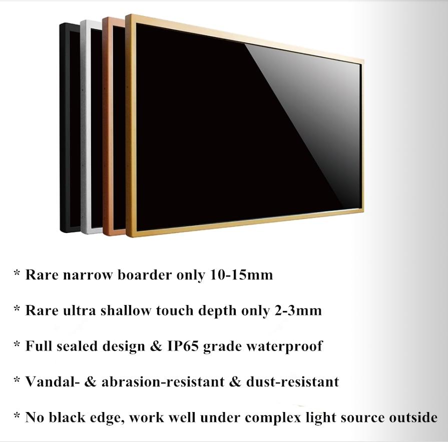 I3 + 2G + 120G tout-en-un pc IR tactile moniteur 32 pouces moniteur infrarouge écran tactile ordinateur moniteur