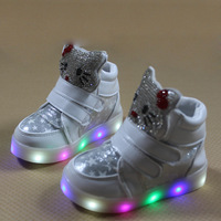 Girls Shoes Hot 2017 Cheapest Autumn Children S Fashion Sneakers Kids Cute Shoes With Light Chaussure