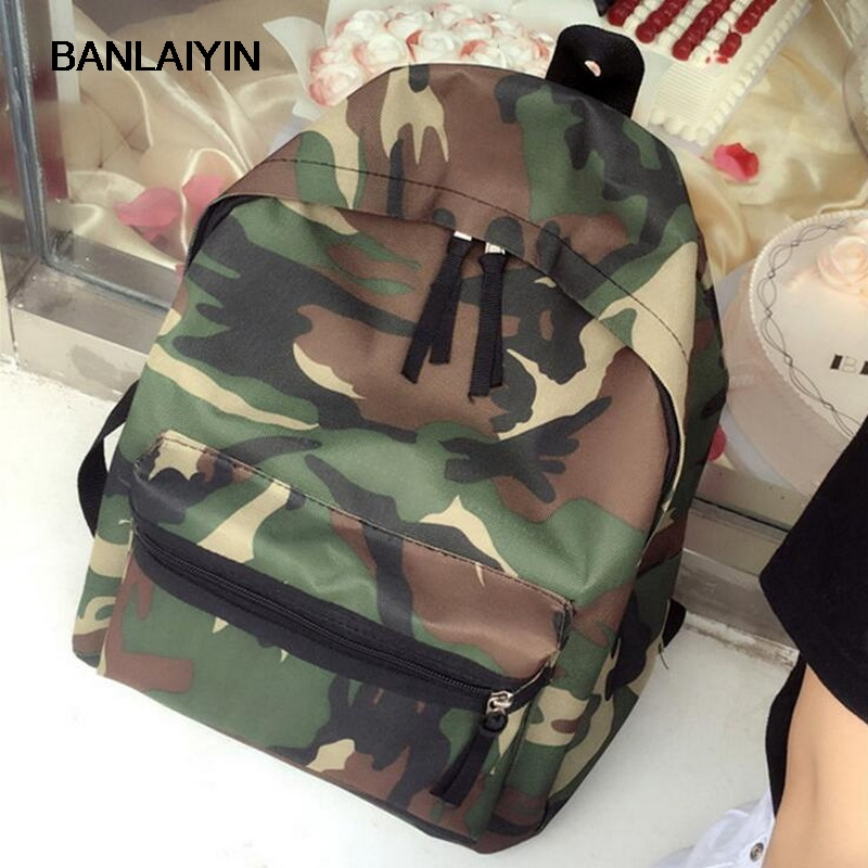 Women Casual Daypacks Men Bag Canvas Backpack Camouflage School Bags For Teenager Boy Girls Unisex Travel