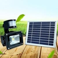 Outdoor Lighting Waterproof 10W Solar Powered LED Emergency Flood Light Inductive Led Floodlight 60leds IP65 Spot