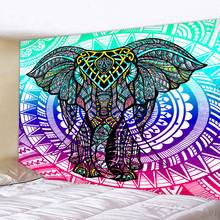 Decorative Mandala Elephant Wall Hanging Tapestry Bohemian Macrame Art Blanket Home Decor Multicolor Bedroom Sheets