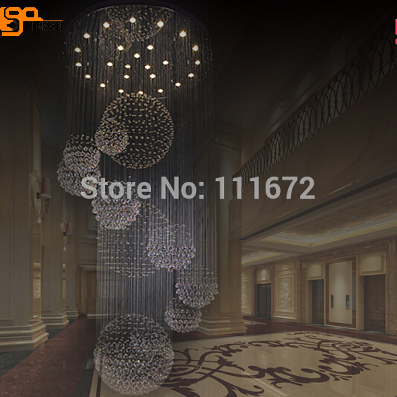 new modern large chandelier crystal lamp Dia100*H300cm hanging light lustre hotel crystal chandelier lighting new silicone r7s led lamp 10w 15w smd 3014 78mm 118mm led r7s light bulb 220v energy saving replace halogen light lampada led