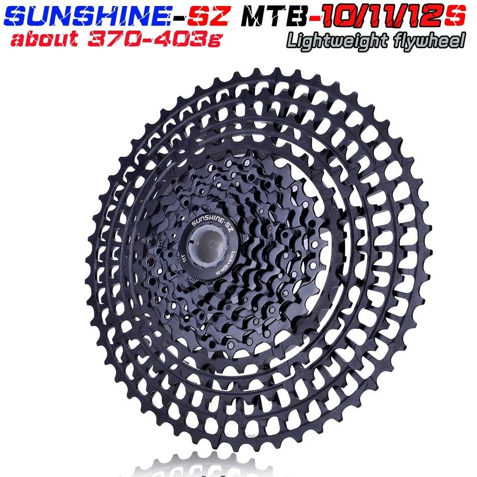 SUNSHNE MTB 11 Geschwindigkeit 11-50 t Kassette 365g Ultraleicht Fahrrad Freilauf 11 t Fahrrad Teile Berg Fur shimano M9000 M800