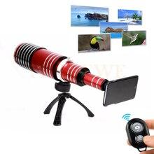 80X Metal Telephoto Telescope Lens Phone Camera Lentes Tripod Phone Holder Bluetooth Remote Control Shutter For