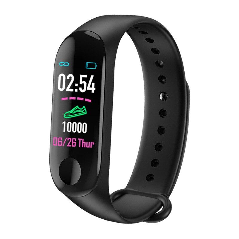 M3plus IPS Screen Smart Sport Fitness Bracelet IP68 Waterproof Blood Pressure Oxygen Activity Tracker For Men Women Watches