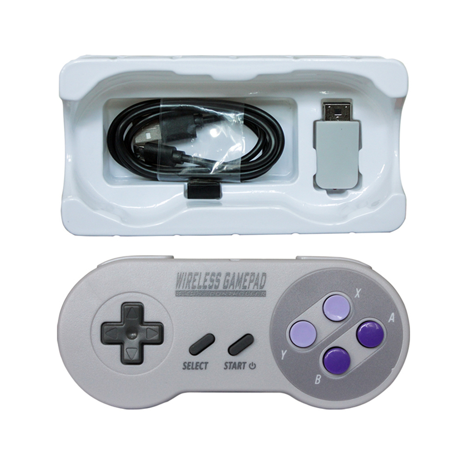 1 piece Wireless Controller for SNES for Super Nintendo Classic MINI 2.4GHZ wireless controller for nintendo nes classic mini black