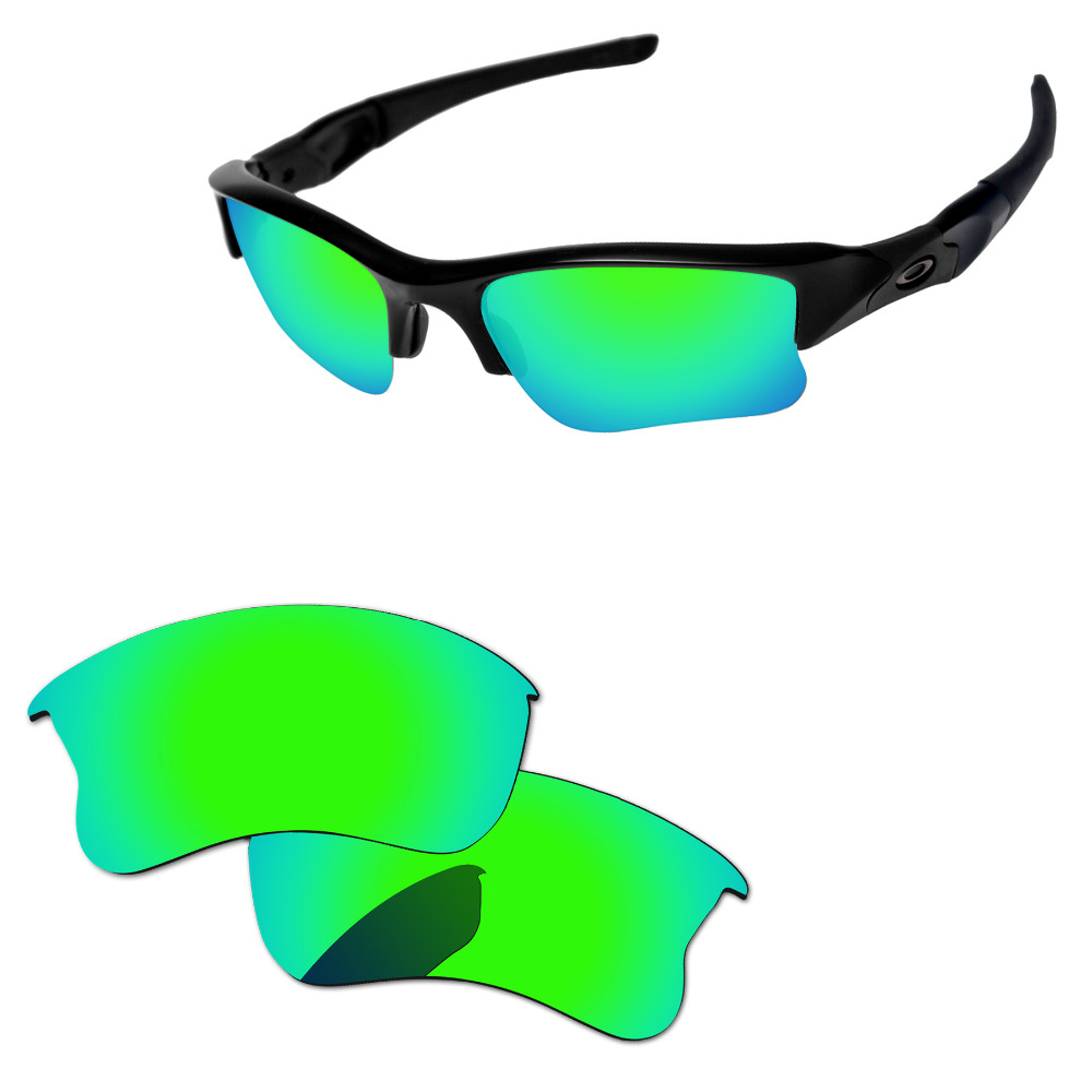 2c5e9afd10 Émeraude Vert Miroir Polarisé verres de remplacement Pour Flak Jacket XLJ  monture de lunettes de soleil 100% UVA et UVB Protection