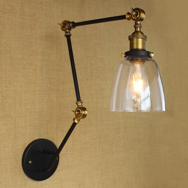 Adjustable Long Arm Wall Lamp LED Loft Industrial Vintage Wall ...