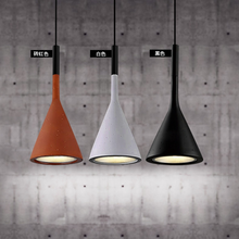 цены Nordic Creative minimalist modern restaurant bar bar counter bedroom Aplomb imitation cement Pendant Lights