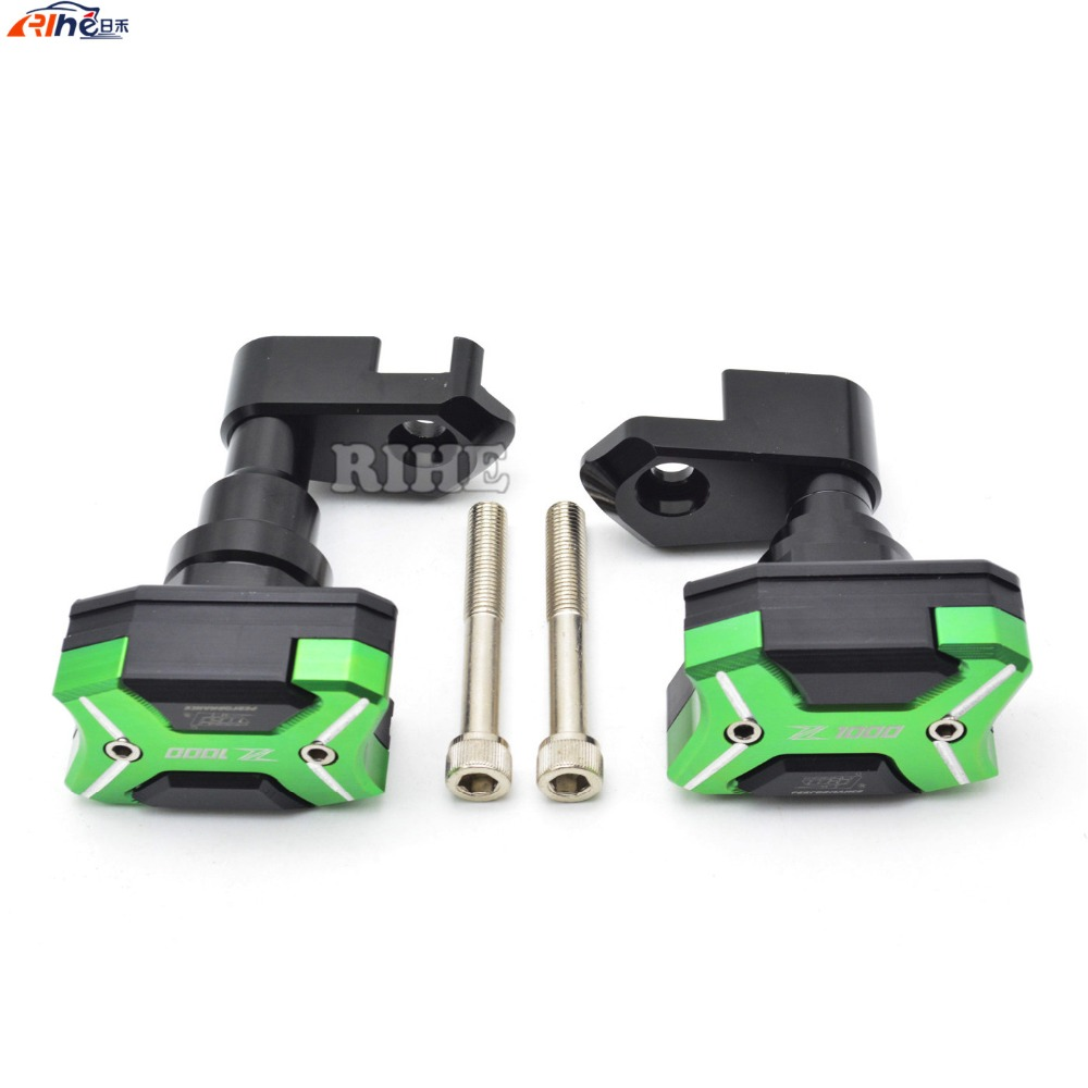 Motorcycle Left and Right Frame Slider Anti Crash Pads Engine Case Sliders Protector For Kawasaki Z1000 2015-2016 frame slider motorcycle frame crash pads engine case sliders protector for kawasaki er 6n er6n er 6n 2012 2013 2014 2015 2016