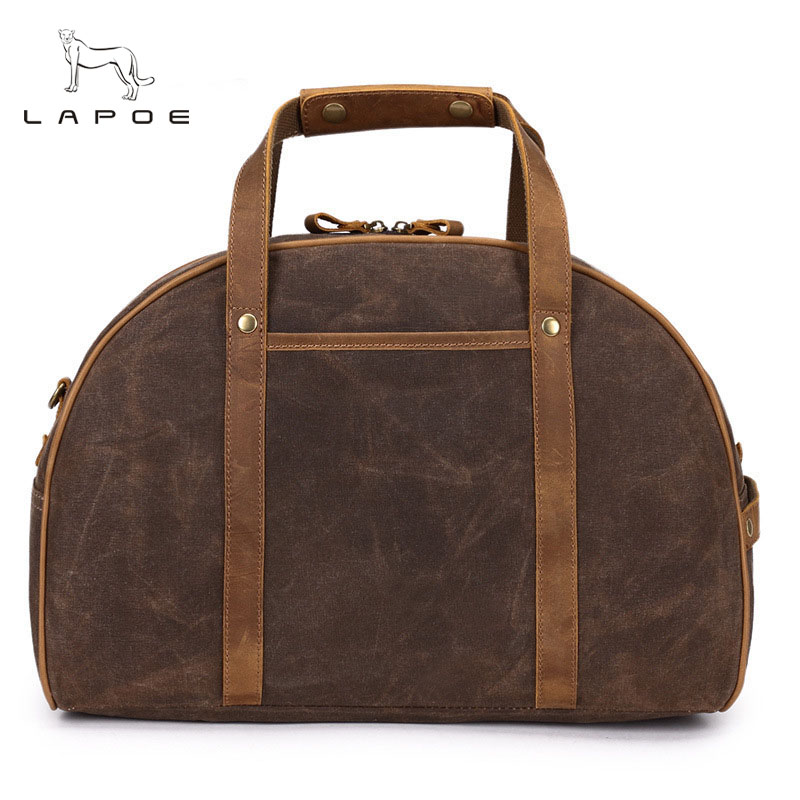 LAPOE Men Travel Bags Large Capacity Women Luggage Travel Duffle Bags Canvas Big Travel Handbag Folding Bag For Trip Waterproof pro biker motorcycle saddle bag pattern luggage large capacity off road motorbike racing tool tail bags trip travel luggage
