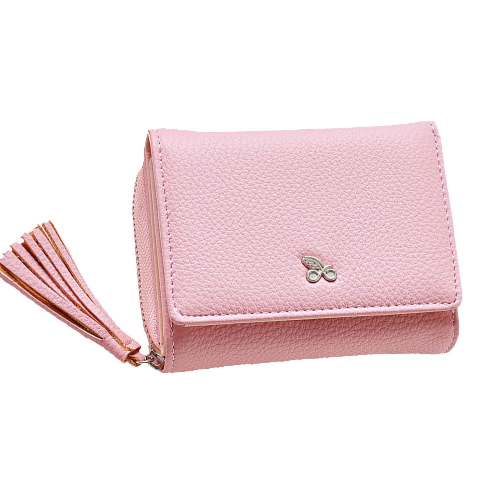 Xiniu Tassels Zipper Women Wallet Coin Card Cash Invoice Fashion Lady Small Purse