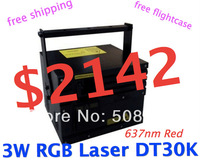 Multicolor 3W RGB Animation Laser Light System 3000mW + DT30K + R 637nm/ 500mW,G 1W,B 1.5W + flightcase Nightclub Light,dj laser