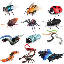 Infrared Remote Control Cockroache/Snake/Spider/Scorpion/Turtle Mock Fake RC Toy Animal Trick Novelty Shocke Jokes Prank(China)
