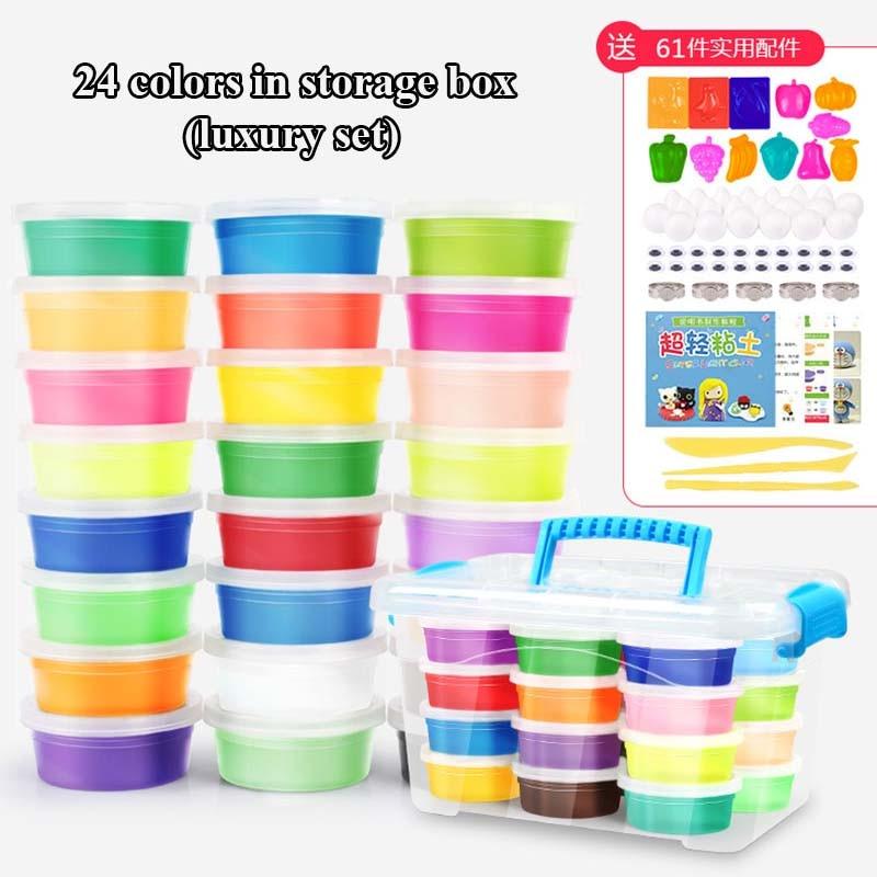 24-Colors-36-Colors-Super-Light-Modeling-Clay-Set-Air-Dry-Soft-Plasticine-Plastilina-Play-Dough-Playdough-Polymer-Clay-DIY-Toy-2