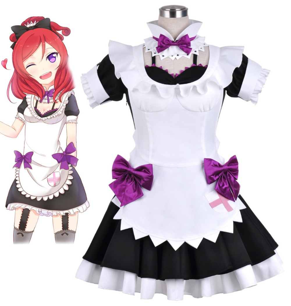 Love Live! Cos Cartoon Anime Maki Nishikino Cosplay Fight song clothes Halloween Man Female Maid Cosplay Costume
