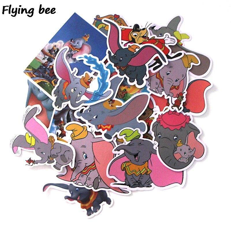 100 Sets/lot Flyingbee 20 Teile/satz Dumbo Nette Graffiti Aufkleber Für Kinder Diy Gepäck Laptop Skateboard Auto Fahrrad Aufkleber X0008 Gut FüR Energie Und Die Milz