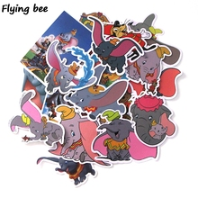 100sets/lot Flyingbee 20Pcs/set Dumbo Cute Graffiti Stickers for Kids DIY Luggage Laptop Skateboard Car Bicycle Sticker X0008