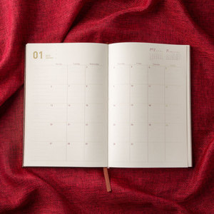 Image 5 - Agendas 2019.6 2020 6 Planner Organizer A5 ไดอารี่โน้ตบุ๊คและวารสารวินเทจรายเดือนหมายเหตุ Vintage ตาราง