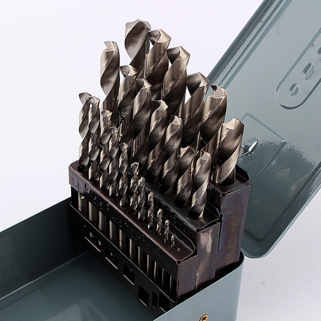 Steel Drill Set Wood Drilling Bit Metal Metalworking Power Tool 1-13mm 25Pcs/Set Twist Drill Bit Set HSS High Speed
