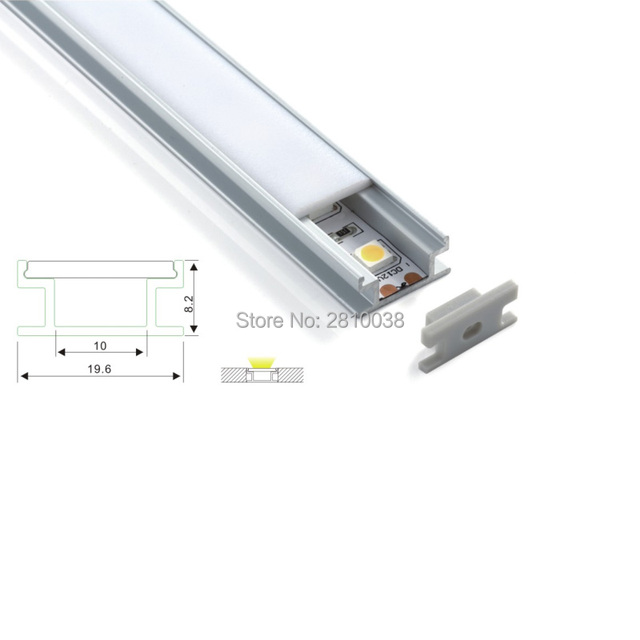 20 X 1M Sets/Lot H type led aluminum profile and flat channel profile led for ground or floor lighting
