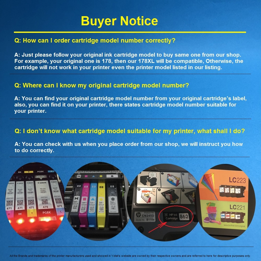 YOTAT Dye ink Compatible ink cartridge PGI1500 PGI 1500 PGI 1500XL for Canon MAXIFY MB2050 MB2354 MB2355 MB2356 MB2357 MB2150 in Ink Cartridges from Computer Office