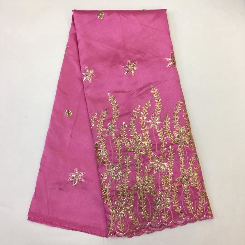 Buy 2017 embroidery george lace fabric for Cloth material for sale