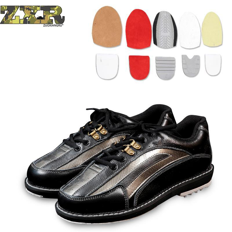 Men's Changable Sole Bowling Shoes With Skidproof Sole Sneakers Breathable Men Right Hand And Left Hand Both Of Them Can Wear It leather women bowling shoes with skidproof sole