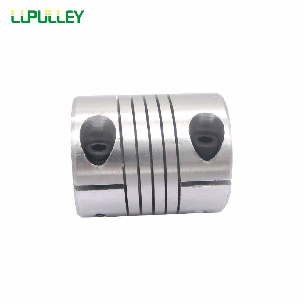 LUPULLEY 1pc 8x10mm CNC Motor Jaw Shaft Coupling 6/8/10/12/14/15/16mm Flexible Coupler OD32x40mm Aluminium for stepper motor