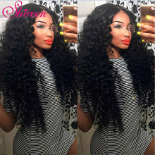 Brasilianske Deep Wave Bundles Med Lukking 4 * 4 Freepart Human Hair Extensions Brazillian Hair Weave Bundler Med Closure Remy Hair