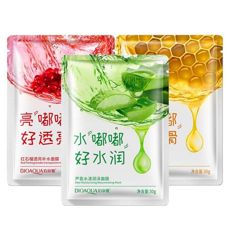 Aloe Vera/Red pomegranate/Honey Collagen Mask Anti-aging Moisturizing Whitening Facial Mas