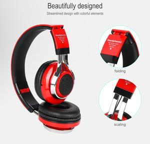 Image 3 - KOOYUTA Glowing Stereo Casque Audio Bluetooth Headphone Wireless LED Sport Headset with Mic Support TF&FM Function Auriculares