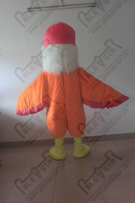 Costumes de mascotte d'oiseau orange costumes de mascotte d'aigle - 5