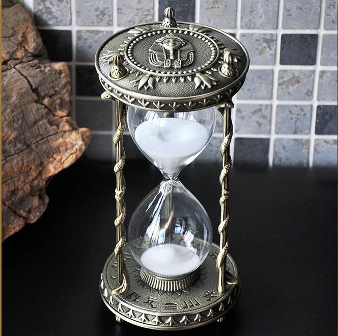 Creative retro tin alloy 30min metal hourglass sand timer sand watch hourglass 30 minutes decoratie zand A34