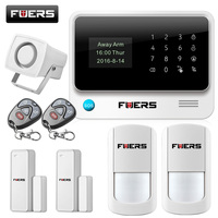 FUERS G90B WIFI GSM Wireless Home Business Burglar Security Alarm System APP Control Siren RFID Motion Detector PIR Smoke Sensor