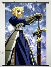 Wall Scroll Poster pintura de la tela para Anime Fate / Stay Night Saber 169