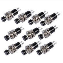 10 Pcs/Lot 7mm Locking Latching OFF- ON Push Button Car/Boat Switch Lockless Momentary ON/OFF Push button Mini Switch Adapter