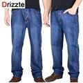 Drizzte marca pantalones de los hombres más el tamaño grande 38 40 42 44 46 48 50 52 Mens Alta Stretch Grandes y Altos Grandes Pantalones Vaqueros para Los Hombres